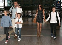 The Beckham Family at Lax Airport