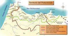 Mapa Protectorado Español de Marruecos