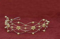 Perličkový diadém, luxusní svatební doplněk do vlasů