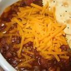 Jim Kaczmarek's Chili recipe. I don't know him, I found it on Allrecipes.com. It is the best chili recipe ever! I half the chili powder and salt, trust me on that!