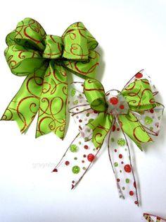 Set of 10 Handmade Red Lime Green Polka Dots by greentraderllc, $69.95