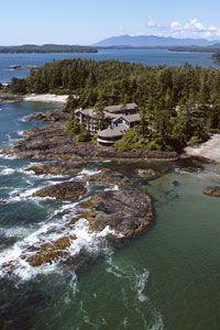 Vancouver Island!  Win. Inn on Long Beach near Tofino...great accom. & restaurant.