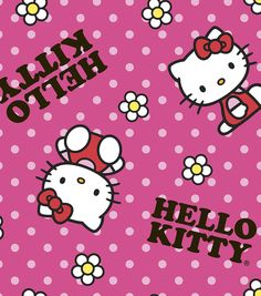 Sanrio Hello Kitty Flower Toss Fleece Fabric