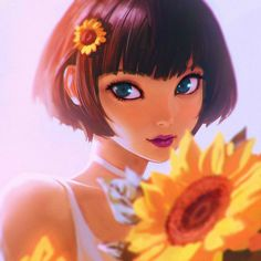 Sunflower by Kuvshinov-Ilya on DeviantArt edit