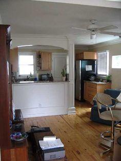 - Eliptical Arch Kitchen Pass-Through Wall Kitchen Pass, Kitchen Reno, Kitchen And Bath, Kitchen Design, Pass Through Window, Beach Kitchens, Project List, Bath Ideas, Basement Remodeling
