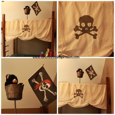 Quick & Easy Bunk Bed Pirate Mast - Down Home Inspiration