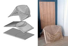 Mix & Match: Folding Flat-Pack Table Pairs With Folded Chair