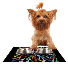 """Project M """"Shoes on Black"""" Dog Place Mat"""