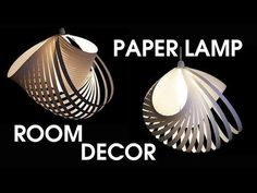 Modular Spiral-twisted (Room Decor) Paper Lamp Cut {Tutorial} - YouTube