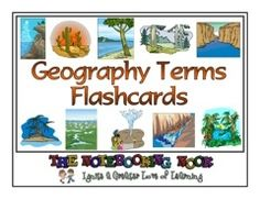 Geography Terms Flashcards - Notebooking Nook.com |  | Geography | LapbooksCurrClick - GREAT for Review games- Geo terms