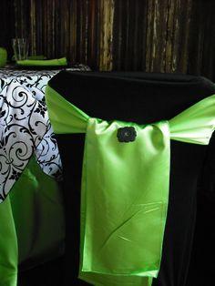 Black Amp Lime Green Black Table Linen Amp Chair Covers Lime Green Sashes Amp Napkins Black Favour