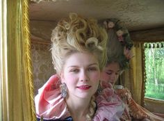 """""""Marie Antoinette behind the scenes """" Marie Antoinette Movie, Marie Antoinette Costume, 18th Century Clothing, 18th Century Fashion, The Queen Of Versailles, Sofia Coppola Movies, Rococo Fashion, The New Wave, Hair Reference"""
