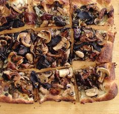 Four-Mushroom Pesto Pizza from Cooking Light via Taking On Magazines