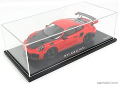 SPARK-MODEL WAX02100036 Scale 1/18 PORSCHE 911 991-2 GT2 RS COUPE 2017 - CON VETRINA - WITH SHOWCASE ORANGE BLACK