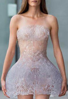 gorgeous! Iris Van Herpen Spring / Summer 2015 - 3D printed dress