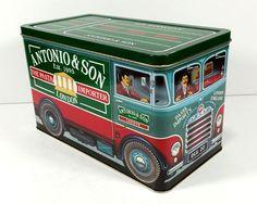 Vintage Tin - Antonio & Son, The Pasta Importer, London - Metal Tin Truck, The Silver Crane Company, 1991