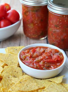 This Slow Cooker Restaurant Style Salsa is perfect for game day and it's so easy to make!