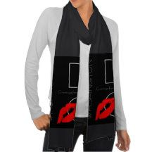 Greetings from #Washington D.C. Red Lipstick #Kiss #Scarf