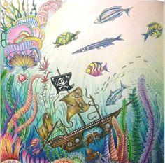 Inspirational Coloring Pages by Rosana Penze   #inspiração #coloringbooks #livrosdecolorir #jardimsecreto #secretgarden #florestaencantada #enchantedforest #reinoanimal #animalkingdom #adultcoloring #johannabasford #lostocean #oceanoperdido