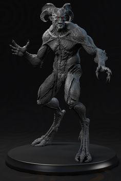 Slashcorch The Slayer Clay posed, Tanvir M. Creature Concept Art, Creature Design, Arte Horror, Horror Art, Alien Creatures, Mythical Creatures, Fantasy Wizard, Evil Art, Fantasy Beasts