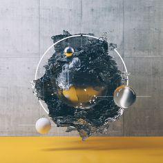 Filip Hodas is a graphic designer from Praha, Czech Republica. Very skillful with softwares, he creates during his free time impressive conceptual compositio E Design, Design Elements, 3d Cinema, Culture Pop, 3d Artwork, Futuristic Design, Graphic Design Typography, Geometric Art, Motion Design