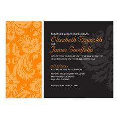 ShoppingOrange Damask Wedding Invitations Custom InvitationsThis site is will advise you where to buy