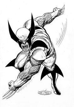 Wolverine commission by John Byrne. 2006.