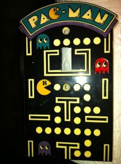 vintage Pac-Man light switch cover