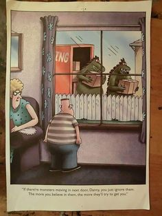 Far Side Cartoons, Far Side Comics, Hilarious Stuff, Funny, Gary Larson, The Far Side, Next Door, Comic Strips, Comedy