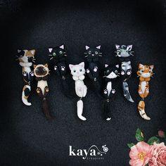 Orecchini GATTINO - vari modelli - fimo Cat earrings - polymer clay  PREZZO: 5€ SINGOLO, 8,90€ COPPIA (2 gatti dello stesso colore, non diversi)  Si indossano così https://www.facebook.com/KayaCreazioni/photos/a.276489002418059.72974.232421286824831/435106463222978/?type=3&theater #cat #gatto #kitty #gattino #micio #earrings #orecchini #KayaCreazioni Kaya Creazioni http://www.facebook.com/KayaCreazioni