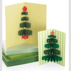 Cute tree diy tree cards! I will have my kids make some of these for family and their teachers.