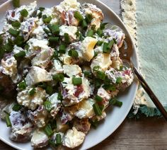 Potato Salad with Dill Chive Yogurt Dressing : a health side for the summer // A Cedar Spoon #shop