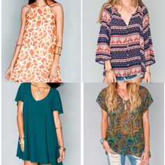 ISO PRINTS!!! if anyone has any of these prints please let me know!! I would love tops, dresses (not maxi), and shorts in SMALL or MEDIUM!! And possibly skater skirts in M or L too!! I may even be willing to trade  print name from L to R and top to bottom: Sophie spots, bbq babe cloud, emerald chiffon, peacock, rustic blooms, hanky blue breeze, merlot crisp, emerald city, and teacup blue! Show Me Your MuMu Tops