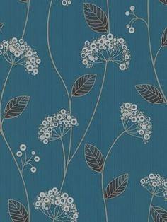 DecoratorsBest - Detail1 - GB 30-610 - Claire: Teal wallpaper - Wallpaper - DecoratorsBest