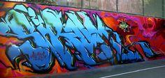 Graffiti Creator, Graffiti Words, Graffiti Art, Installation Street Art, American Graffiti, People Art, Walls, Etsy, Street Art