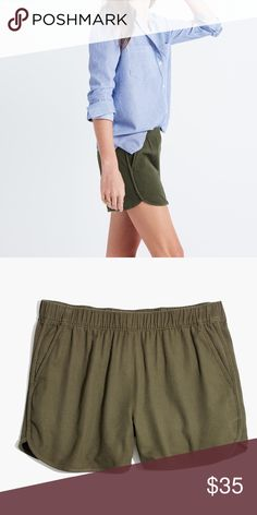 Madewell || pull-on shorts Size M, only worn once, cotton material, smoke/pet free  household Madewell Shorts