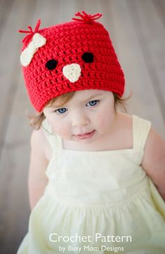 Crochet Pattern - Chick / Bird Hat - All sizes
