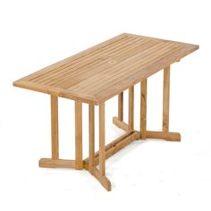 The Nevis Rectangular Teak Folding Table is durable and convenient when space is limited. All of our teak folding butterfly & drop leaf tables come with a Lifetime Warranty.