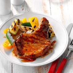 60 Cheap Dinner Ideas for Family Meals Under $10 | Taste of Home Best Grilled Pork Chops, Grilled Meat, Pork Chop Recipes, Ground Beef Recipes, Cooking Recipes, Healthy Recipes, Cheap Recipes, Healthy Meals, Fast Meals