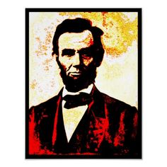 Abraham Lincoln PAINTED FADE Poster