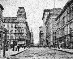 Toledo 1909 Street View, Artwork, Work Of Art