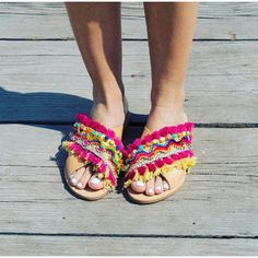 RiRiPoM Greek Leather Sandals X Strap Sandals Fringe