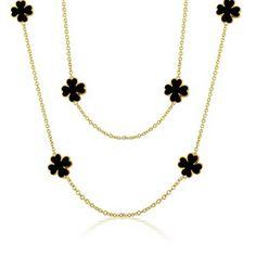 Dark Clover Necklace