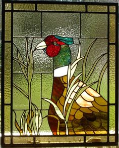 stained glass duck