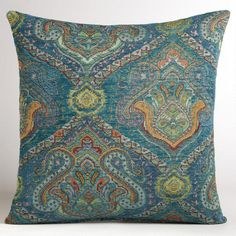 Peacock Jacquard Venetian Pillow  This is a yummy pillow.  Wonder what room I could make this work in....