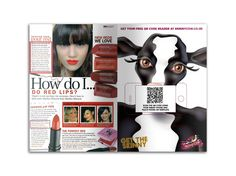 Skinny Cow magazine advert which plays a YouTube video when QR code is scanned.