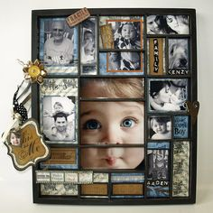 archivers family shadow box idea; love this!