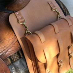Leather Horse saddle bags for riding. Leather por TimsSatchels