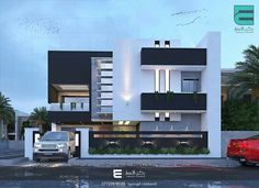 Two floors house. House Front Wall Design, Bungalow House Design, Best Modern House Design, Minimalist House Design, Architect House, Architect Design, House Architecture Styles, Double Storey House, Indian House Plans