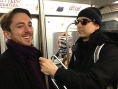 Berin & Alex, city subway ride, 2013.